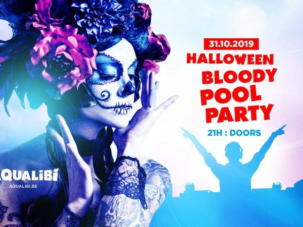 walibi belgium halloween bloody pool party