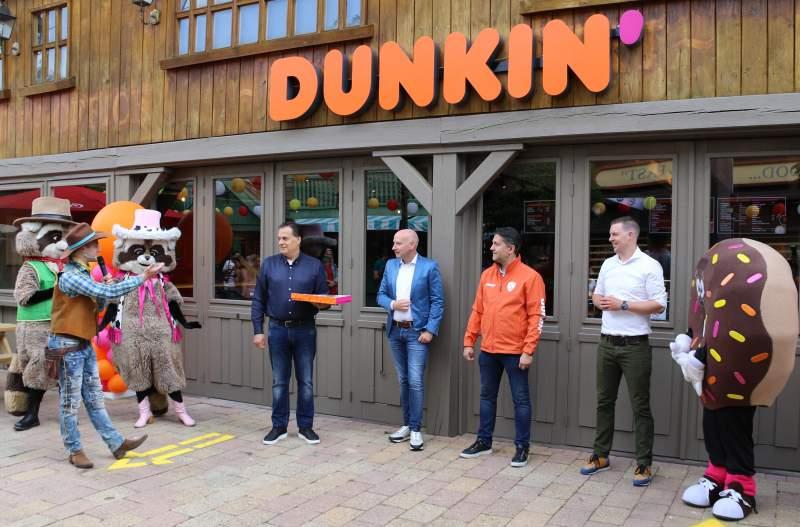 dunkin' donut in attractiepark slagharen